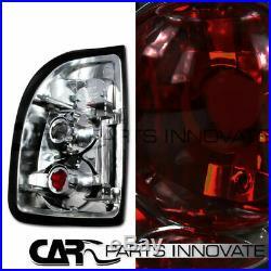 Glossy Black 97-04 Dodge Dakota Halo LED Projector Headlights+Smoke Tail Lamp