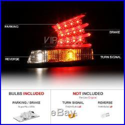 Honda Accord 08-12 CP2/CP3 DX LX EX SE 4DR LED Black Tail Light Rear Brake Lamp