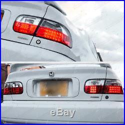 JDM CIVIC 92-95 3DR Hatchback CX/VX/Si EG RED+CLEAR Bright LED 4PCS Tail Light