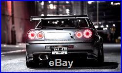 JDM LED Tail Lights Set for Nissan Skyline R34 GTR34 GTT34 Made in Japan