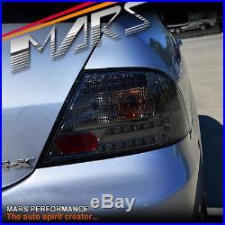 JDM Smoked Black LED Tail Lights Taillight for MITSUBISHI LANCER CH SEDAN 03-07