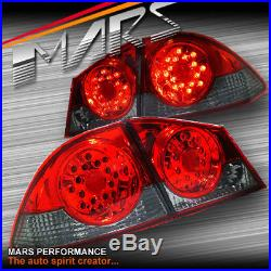 JDM Smoked Red LED Tail Lights for HONDA CIVIC Sedan 06-10 FD1 FD2 TYPE-R