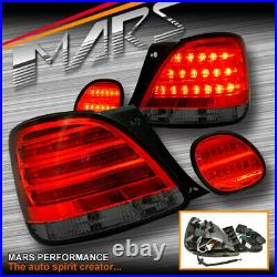 JDM Smoked Red LED Tail lights Trunk Lamps for Lexus GS300 JZS160R