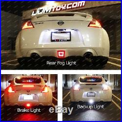 JDM Style LED Rear Fog Light, Brake and Backup Reverse For 2009-up Nissan 370Z