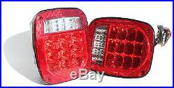 Jeep TJ CJ YJ JK Replacement Tail Lights with Bright Red LED's Illuminator on Left