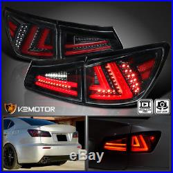 Jet BlackFor 2006-2008 Lexus IS250 IS350 Full LED Rear Tail Lights Brake Lamps