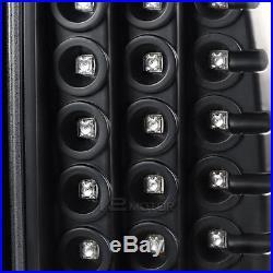 Jet Black 09-18 Ram 1500 2500 3500 Halo Projector Headlight+Black LED Tail Lamps