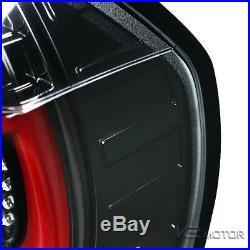 Jet Black 2005-2008 BMW E90 325i 328i 3-Series 4dr Sedan LED Tail Brake Lights