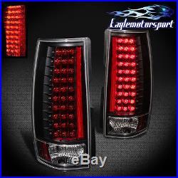 LED 2007-2014 Chevy Suburban/Tahoe GMC Yukon XL Denali Black Tail Lights Pair