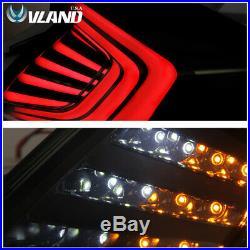 LED 4PCS Tail Lights For Honda Civic 10th Gen 2016-2018 Rear Lamps Smoked Black