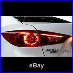 LED Genuine Style Tail Lights Rear Lamps For Mazda 3 Axela M3 Sedan 20142016+