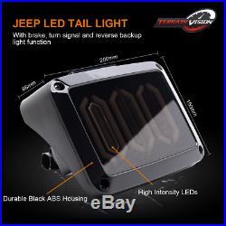 LED Headlights+Fog Light+Turn signal Tail Light Kit For Jeep Wrangler JK 07-2018