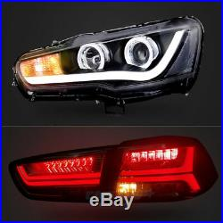 LED Headlights & Tail Lights For 2008-2017 Mitsubishi Lancer & EVO X Assembly