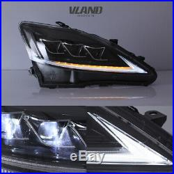 LED Headlights + Tail Lights For Lexus IS250 350 ISF 2006-2012 2 Pair