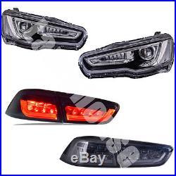 LED Headlights & Tail Lights For MITSUBISHI LANCER 2008-2017 EVO X Assembly
