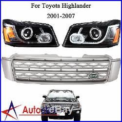 LED Headlights & Tail Lights & Grille Set For 2001-2007 Toyota Highlander Kluger