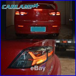LED Headlights + Tail Lights Smoked For Mitsubishi Lancer EVO X 08-17