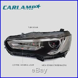 LED Headlights & Tail lights Smoked For Mitsubishi Lancer / EVO X Assembly