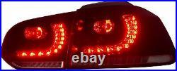 LED Headlights+Taillights+VLAND H7 LED Bulbs for 10-13 Golf MK6 12-13 Golf R