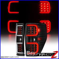 LED PLASMA TUBE 2009-2014 Ford F150 F-150 Black Brake Tail Lights Left+Right