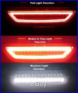 LED REAR 4th BRAKE TAIL BACK UP REVERSE LIGHT SMOKED for 2015-2020 FORD MUSTANG