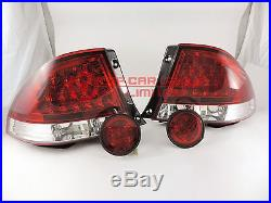 LED RED/CLEAR Tail Lights Rear ALTEZZA For LEXUS IS200 IS300 98-05