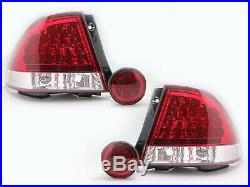 LED RED CLEAR Tail Lights+Rear Trunk Led Fog Lights For LEXUS IS200 IS300 98-05