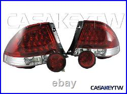LED RED CLEAR Tail Lights+Rear Trunk Led Lights For LEXUS IS200 IS300 98-05