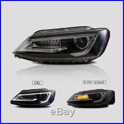 LED Red Tail Lamps & Headlight Conversions For Volkswagen VW Jetta 2011-2014 Set