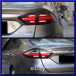 LED Smoked Tail Lights For 2013-2016 Ford Fusion Rear Lamps Assembly