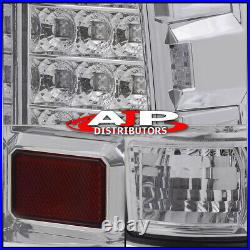 LED Stop Brake Tail Lights Lamps Clear For 2000-2006 Chevy Suburban Tahoe Yukon