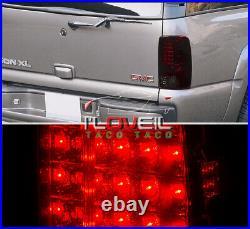 LED Stop Brake Tail Lights Lamps Red Smoke For 2000-2006 Suburban Tahoe Yukon