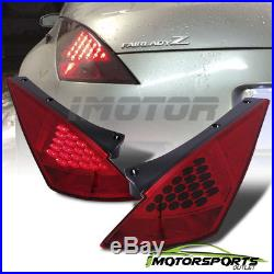 LED StyleFor 2003 2004 2005 Nissan 350Z Red Rear LED Brake Tail Lights Pair