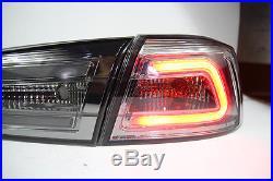 LED TAIL LIGHT SMOKE BLACK LAMP MITSUBISHI Evolution 10 X LANCER EX 2008-2018 CJ