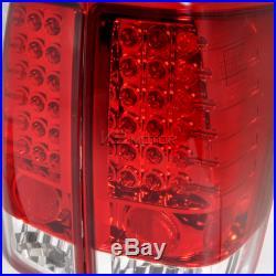 LED Tail Brake Lights Red Lens Pair For 2004-2013 Nissan Titan