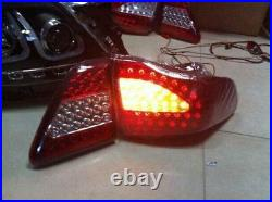LED Tail Light Red Clear Rear Lamp Pair For Toyota Corolla 2007 2008 2009 2010