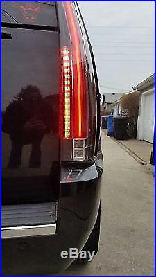 LED Tail Lights Assembly For 2007-2014 Cadillac Escalade ESV Rear Lamp LED Light