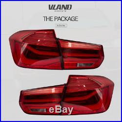 LED Tail Lights For 2012-2016 BMW F30 318I 320I 328I 4 Door Sedan Rear Light Red