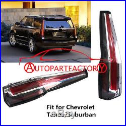 LED Tail Lights For 2015-2016 Chevy Chevrolet Suburban Tahoe Rear Lamp