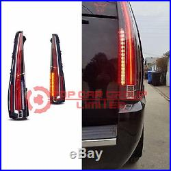 LED Tail Lights For CADILLAC Escalade 2007-2014 ESV Red Rear Lamp 2016 Style