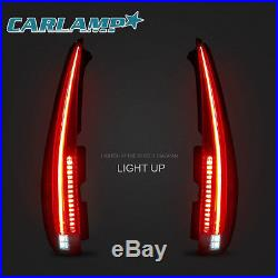 LED Tail Lights For Cadillac Escalade 2007-2014 Rear Lamp 2016 Model Assembly