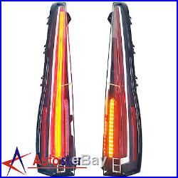 LED Tail Lights For Cadillac Escalade / ESV 2007-2014 Red Rear Lamp 2016 Style