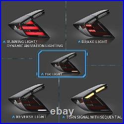 LED Tail Lights For Honda Civic 2016-2019 Hatchback Type R Start-Up Animation