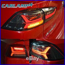 LED Tail Lights For Mitsubishi Lancer / EVO X 2008-2017 Rear Light Black Smoked