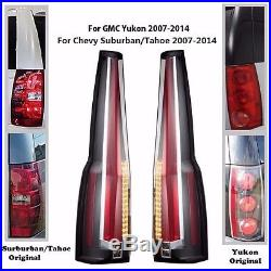LED Tail Lights Rear For 2007-2014 Chevy Chevrolet Suburban Tahoe GMC Yukon