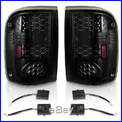 LED Tail Lights Replacement for 1993-1999 Ford Ranger Black Smoke Rear Lamp PAIR
