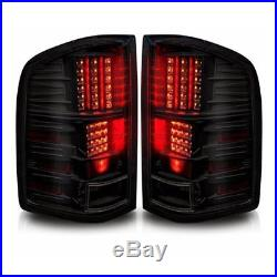 LED Tail Lights Replacement for 2007-2013 Chevy Silverado Black Smoke Rear Lamps