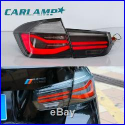 LED Tail Lights Smoked For 2012-2015 BMW 3 Series F30 Left+Right Rear Lights
