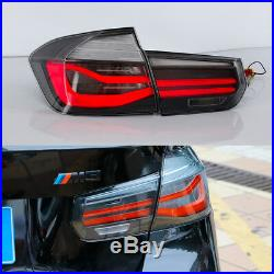 LED Tail Lights Smoked For BMW 3 Series F30 2012-2015 Sequential Indicator