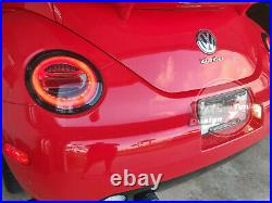 LED Tail Lights WithSequential Indicators For 98-05 Volkswagen NEW BEETLE Smoked
